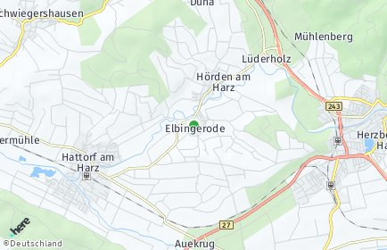 Stadtplan Elbingerode