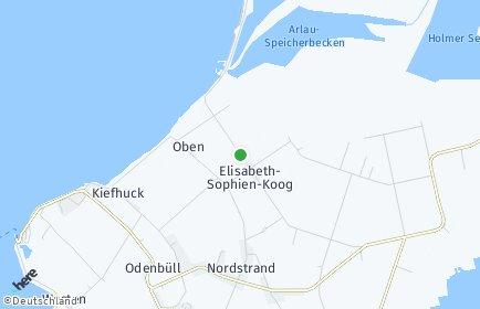 Stadtplan Elisabeth-Sophien-Koog