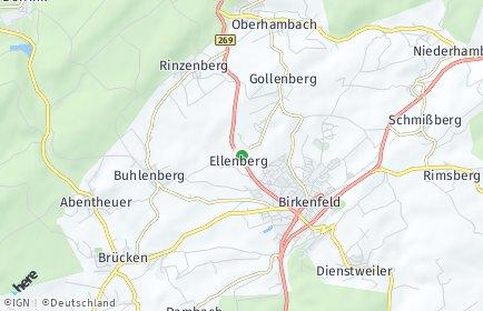 Stadtplan Ellenberg bei Birkenfeld