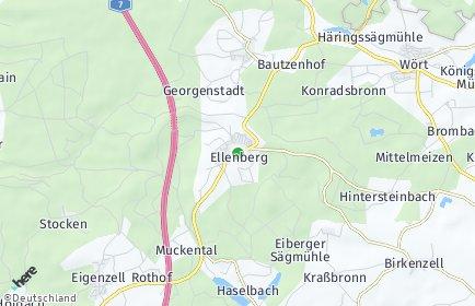 Stadtplan Ellenberg (Württemberg)