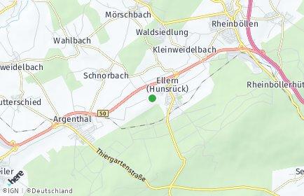 Stadtplan Ellern (Hunsrück)