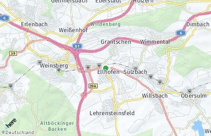 Stadtplan Ellhofen