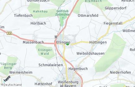 Stadtplan Ellingen