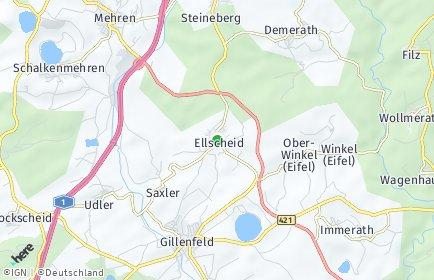Stadtplan Ellscheid