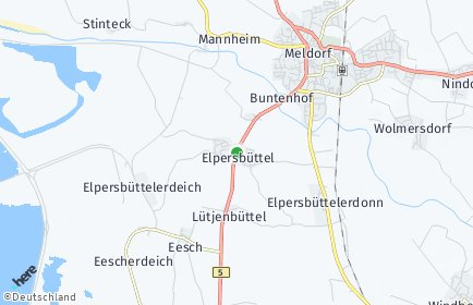 Stadtplan Elpersbüttel