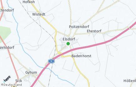 Stadtplan Elsdorf (Niedersachsen)