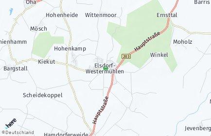 Stadtplan Elsdorf-Westermühlen