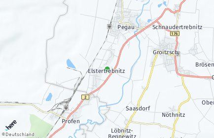 Stadtplan Elstertrebnitz