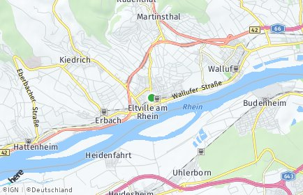 Stadtplan Eltville am Rhein