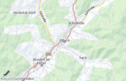 Stadtplan Elzach