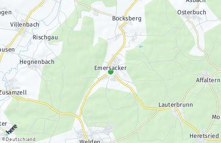 Stadtplan Emersacker