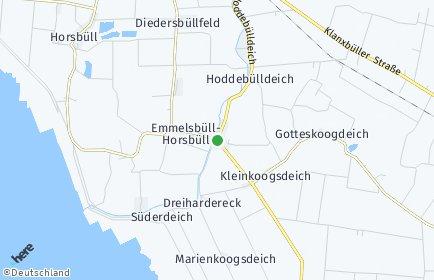 Stadtplan Emmelsbüll-Horsbüll