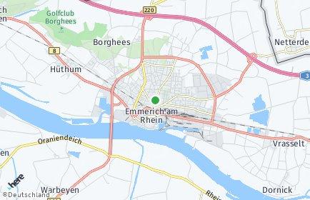 Stadtplan Emmerich am Rhein