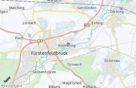 Stadtplan Emmering