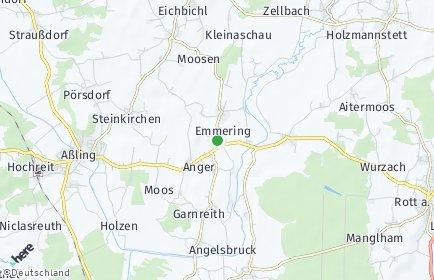 Stadtplan Emmering (Landkreis Ebersberg)