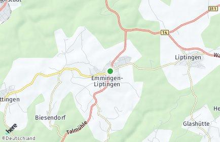Stadtplan Emmingen-Liptingen