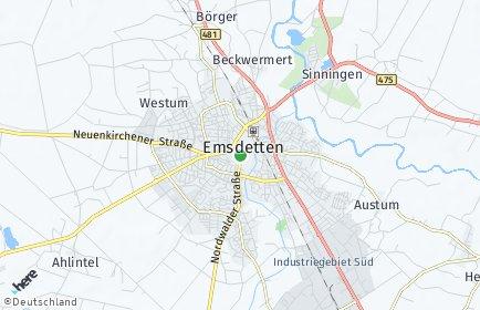 Stadtplan Emsdetten