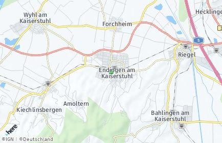 Stadtplan Endingen am Kaiserstuhl