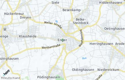 Stadtplan Enger