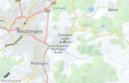 Stadtplan Eningen unter Achalm