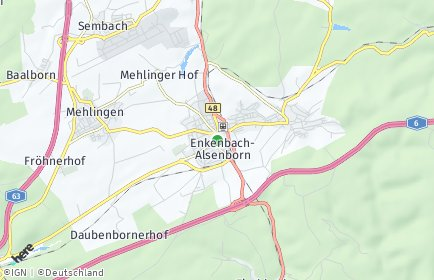 Stadtplan Enkenbach-Alsenborn