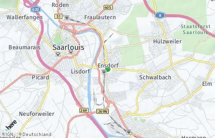 Stadtplan Ensdorf (Saar)