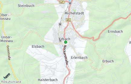 Stadtplan Erbach (Odenwald)