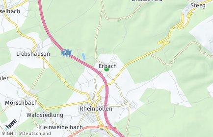 Stadtplan Erbach (Hunsrück)