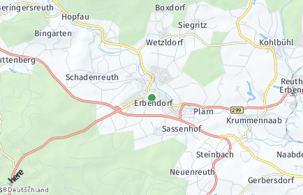 Stadtplan Erbendorf