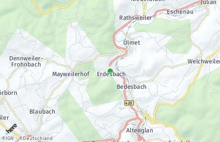 Stadtplan Erdesbach
