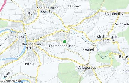 Stadtplan Erdmannhausen