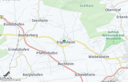 Stadtplan Ergersheim