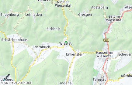 Stadtplan Kleines Wiesental