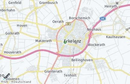 Stadtplan Erkelenz