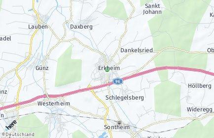 Stadtplan Erkheim