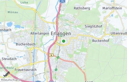 Stadtplan Erlangen OT Erlangen-Mitte
