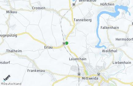 Stadtplan Erlau (Sachsen)