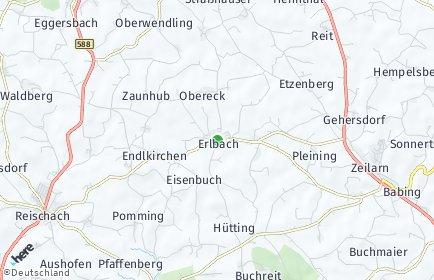 Stadtplan Erlbach