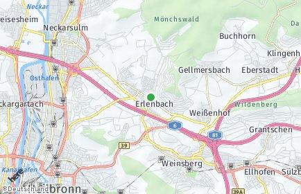 Stadtplan Erlenbach (Kreis Heilbronn)
