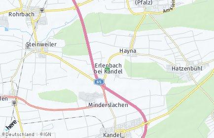 Stadtplan Erlenbach bei Kandel
