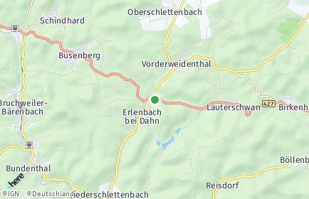 Stadtplan Erlenbach bei Dahn