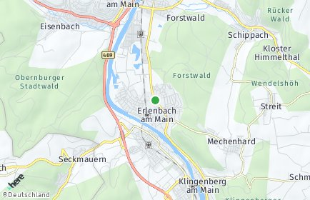 Stadtplan Erlenbach am Main