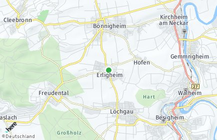 Stadtplan Erligheim