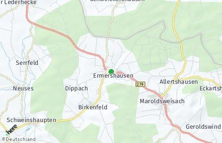 Stadtplan Ermershausen