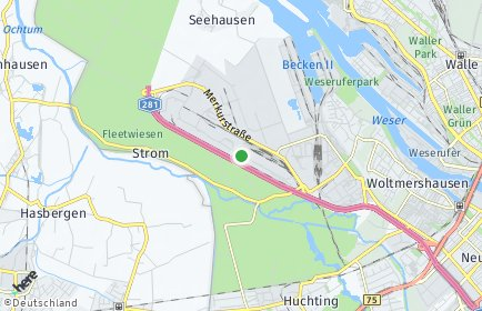 Stadtplan Bremen-Strom