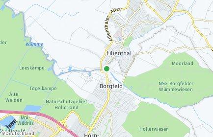 Stadtplan Bremen-Borgfeld