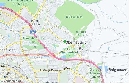 Stadtplan Bremen-Oberneuland