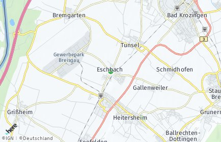 Stadtplan Eschbach (Markgräflerland)