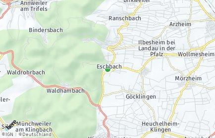 Stadtplan Eschbach (Pfalz)