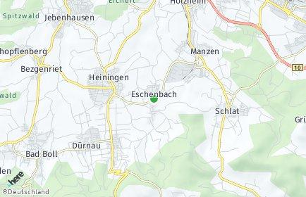 Stadtplan Eschenbach